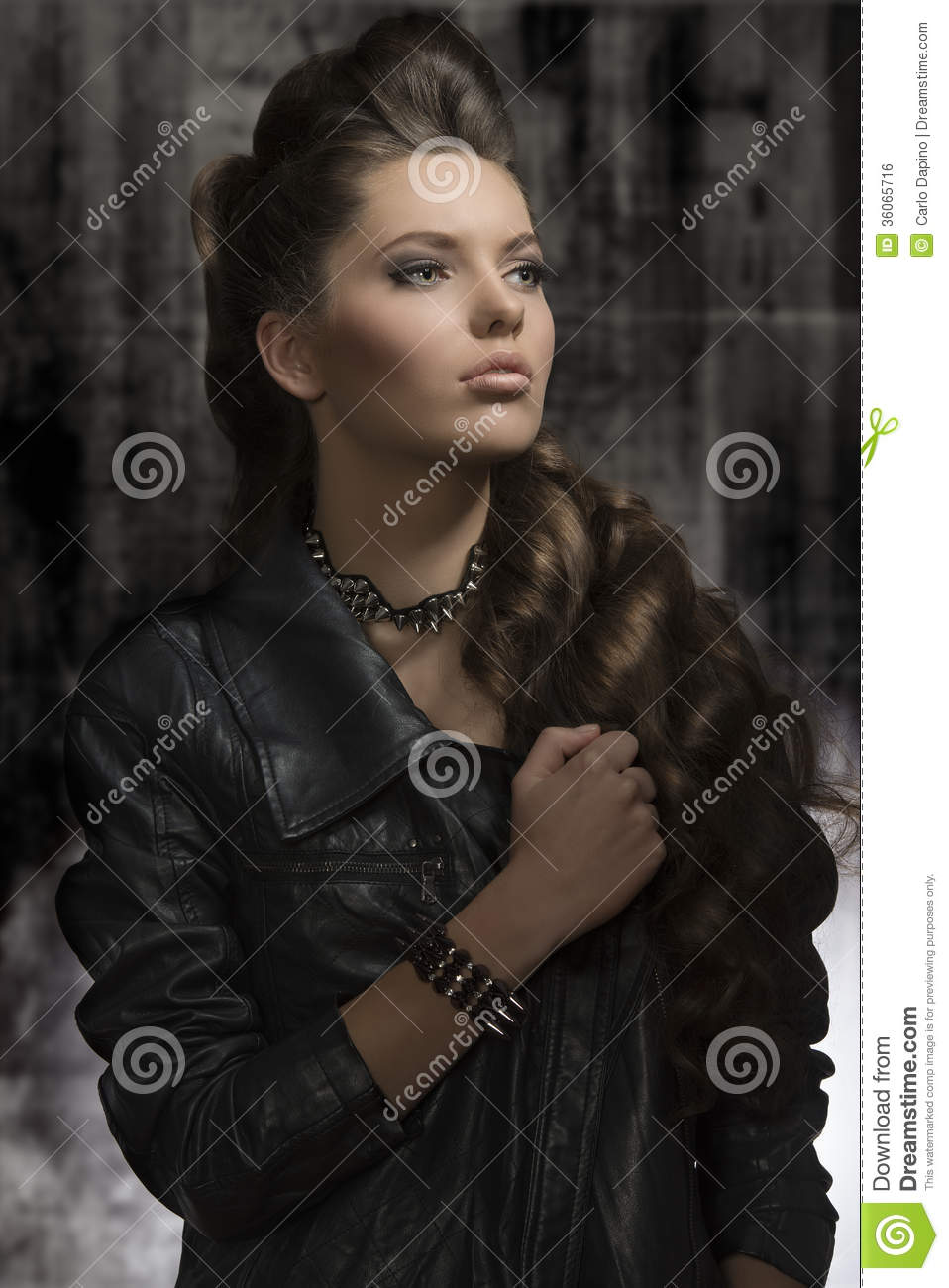 rock hair style fashion with style royalty free stock image 7180