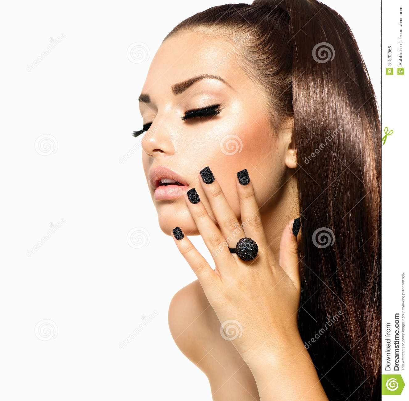 Fashion Girl With Long Hair Stock Photo Image 31892966