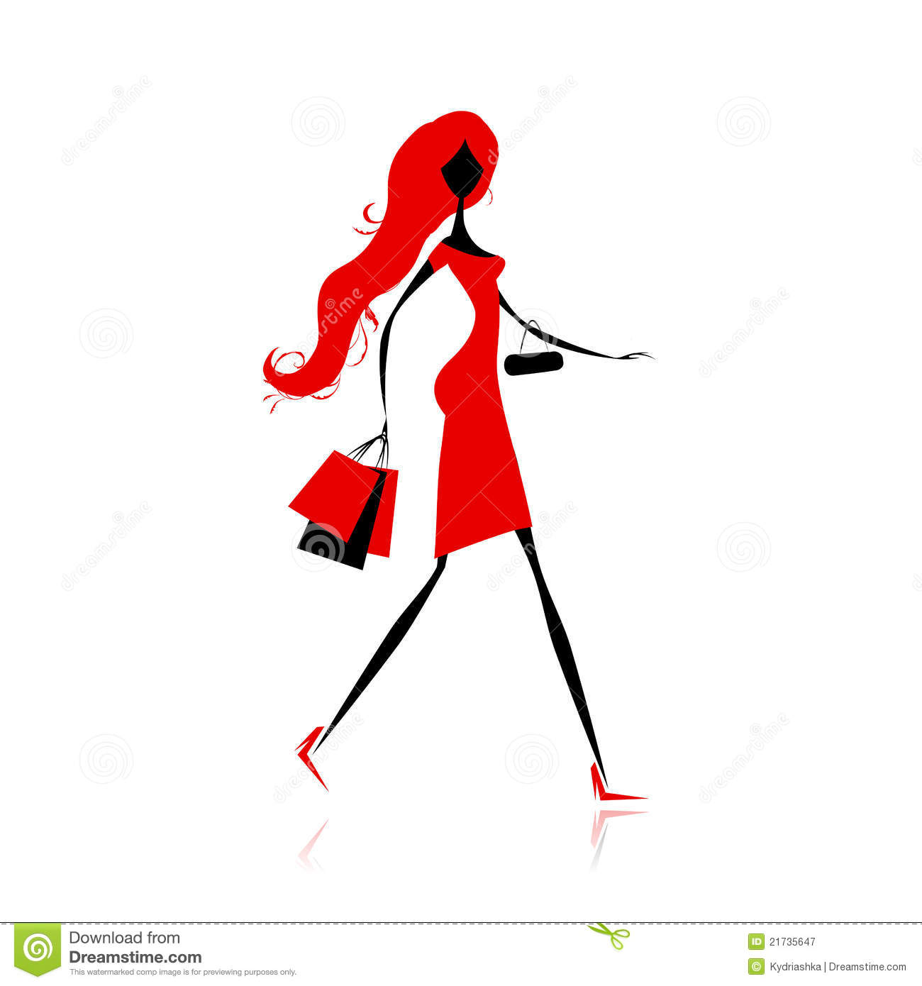 Fashion Girl With Shopping Bags For Your Design Stock ...