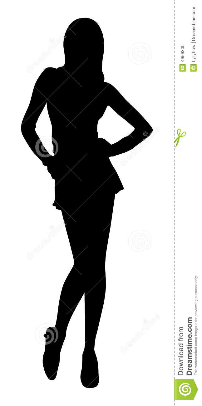 Fashion girl silhouette stock vector. Illustration of hats ...