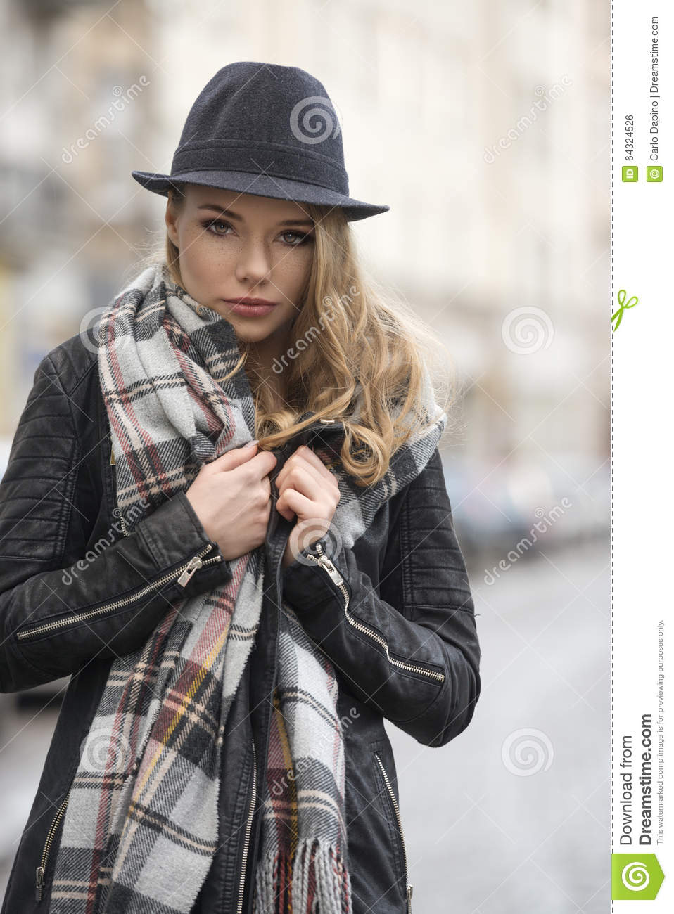 Fashion Girl In Urban Style Stock Photo Image 64324526