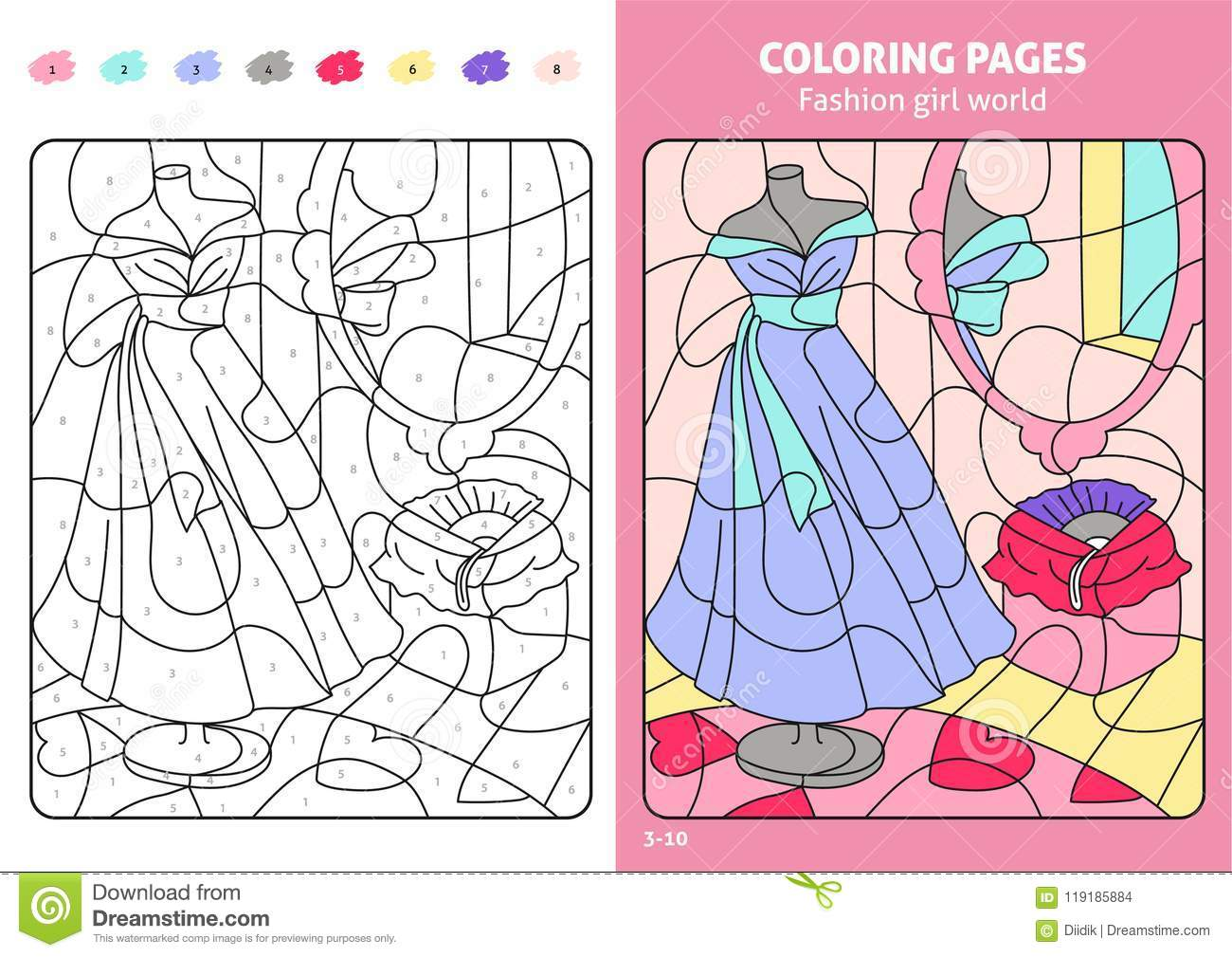 Fashion Coloring Books For Girls: Coloring Pages For Kids, Girls ... | 1009x1300