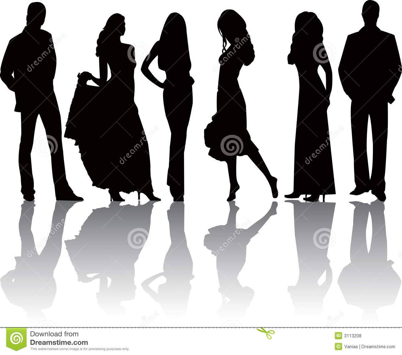 Fashion Girls And Boys Vector Stock Vector Image 3113208