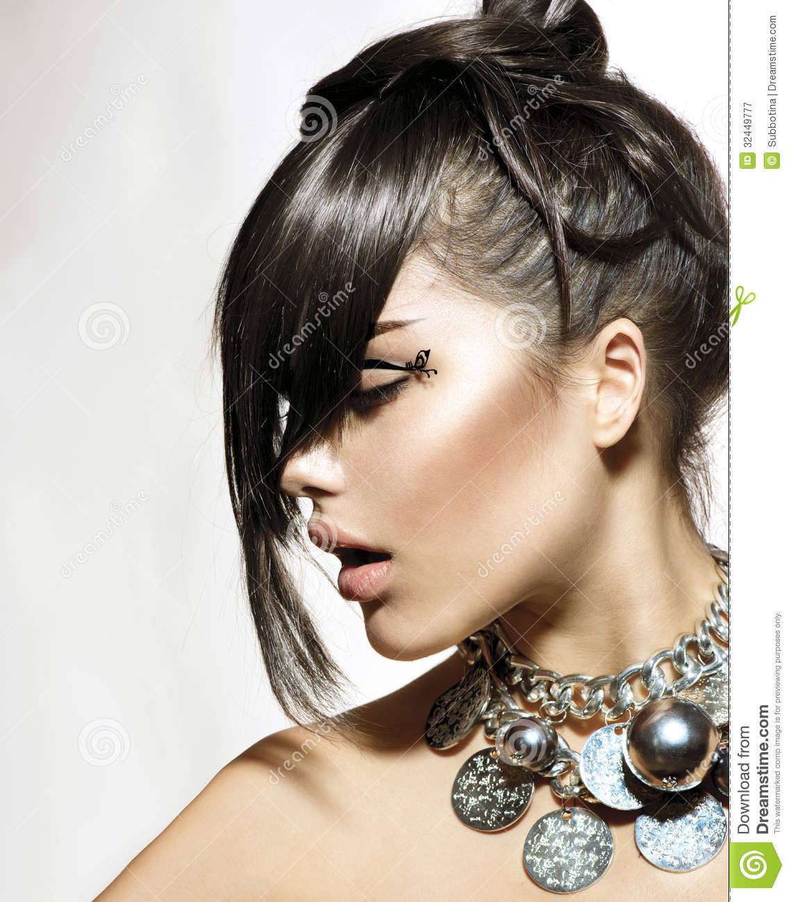 Peachy Fashion Glamour Beauty Girl Royalty Free Stock Photography Image Short Hairstyles For Black Women Fulllsitofus