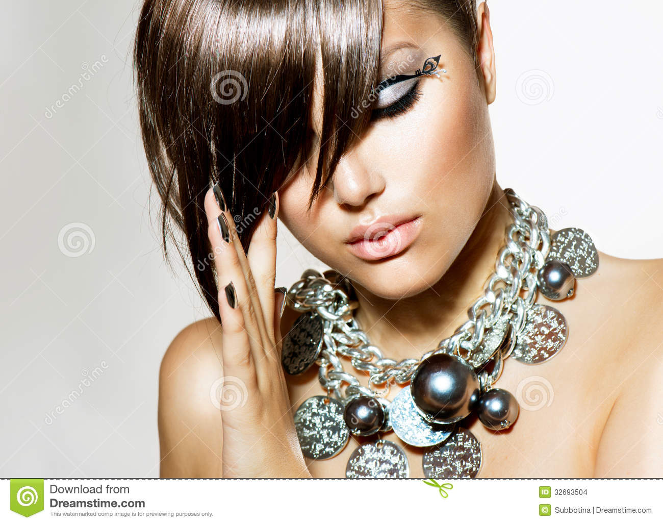 Fashion Glamour Beauty Girl Stock Photo