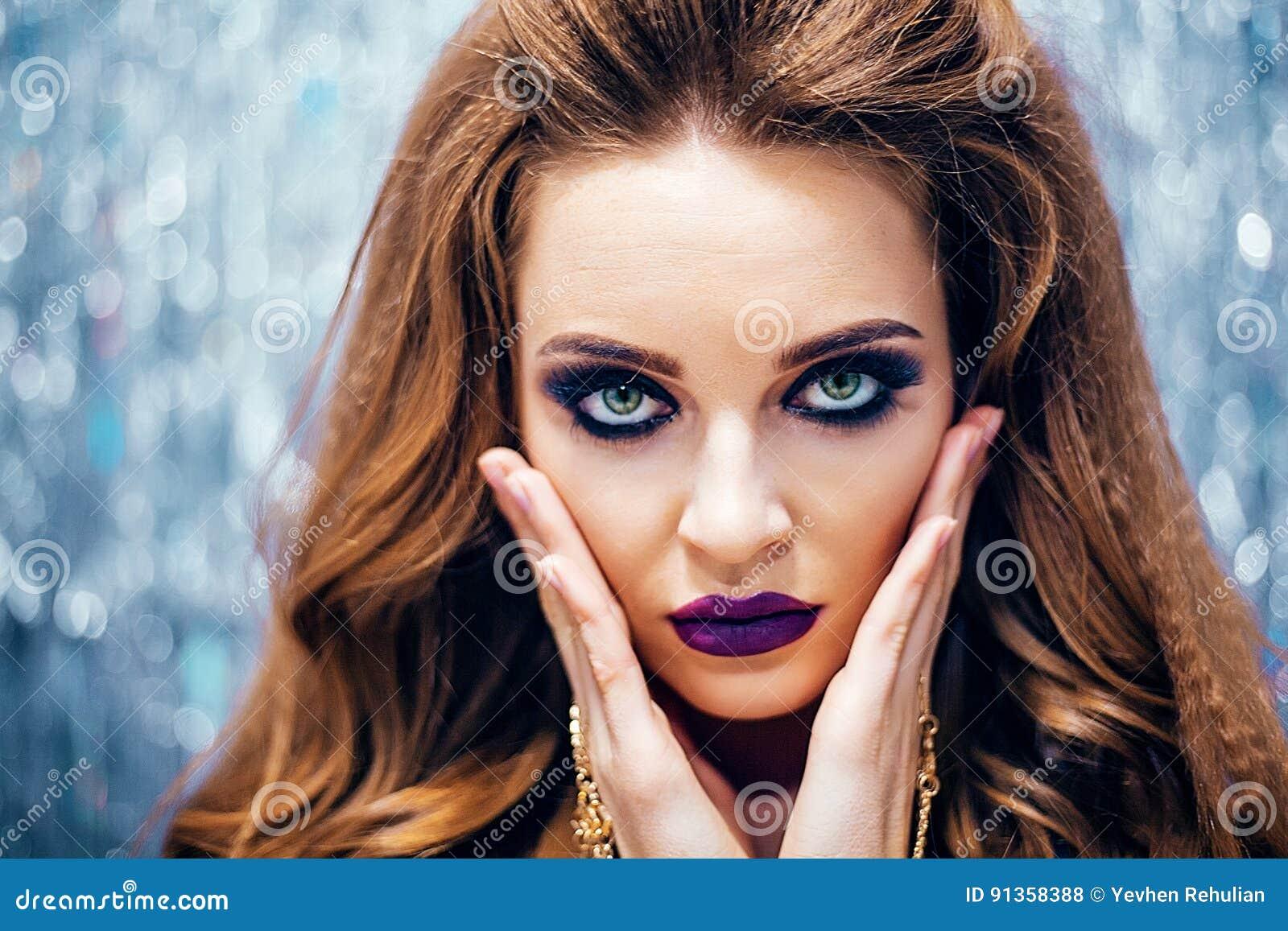 Fashion glamour model girl in lingerie