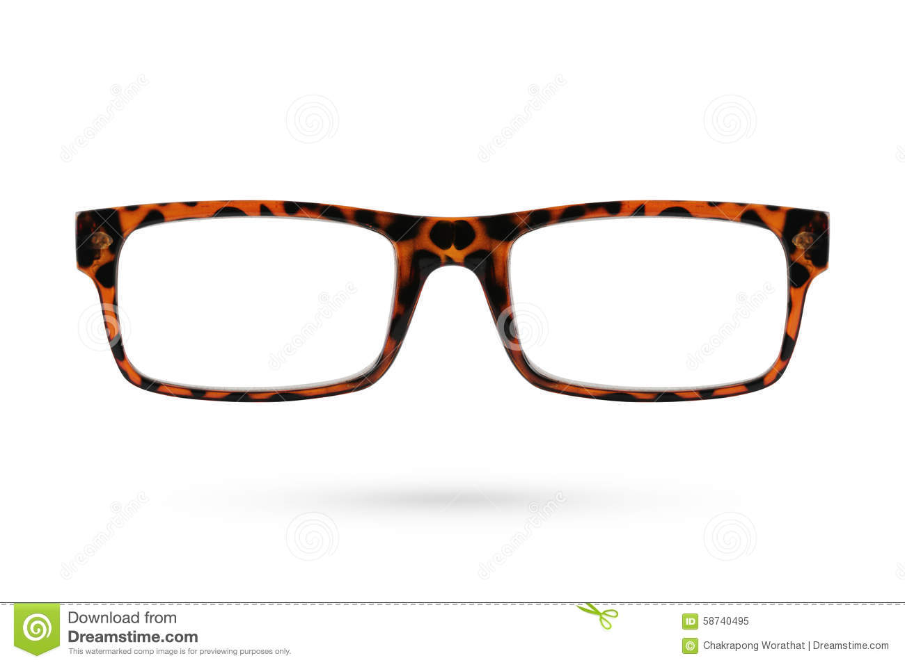 Plastic Framed Fashion Glasses : Fashion Glasses Style Plastic-framed Isolated On White ...