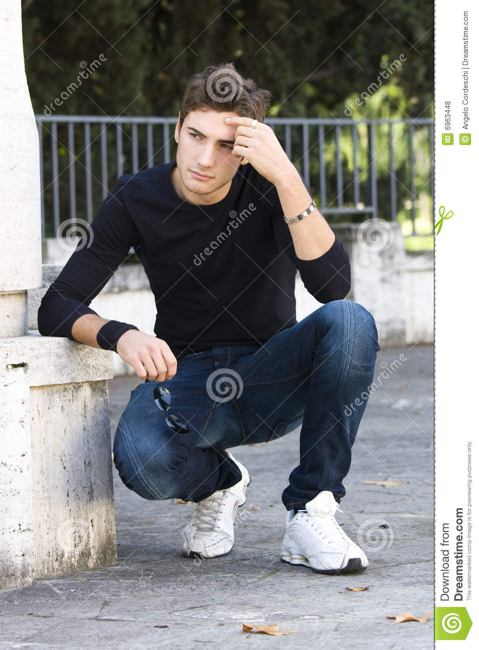 Fashion Guy Cool Model Outdoor Stock Photo 6963448