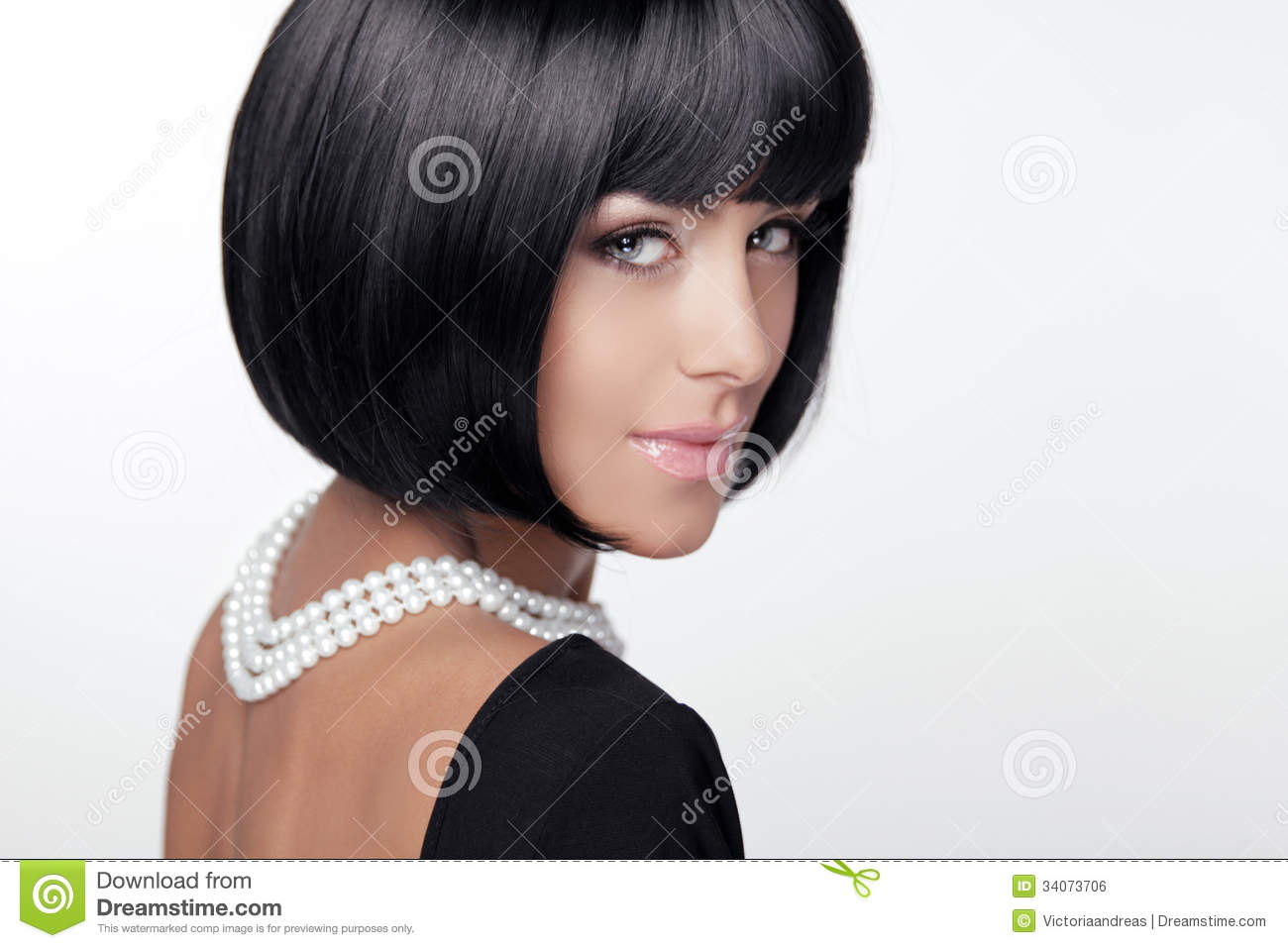 Fashion Haircut Hairstyle Lady Stock Photo Image Of