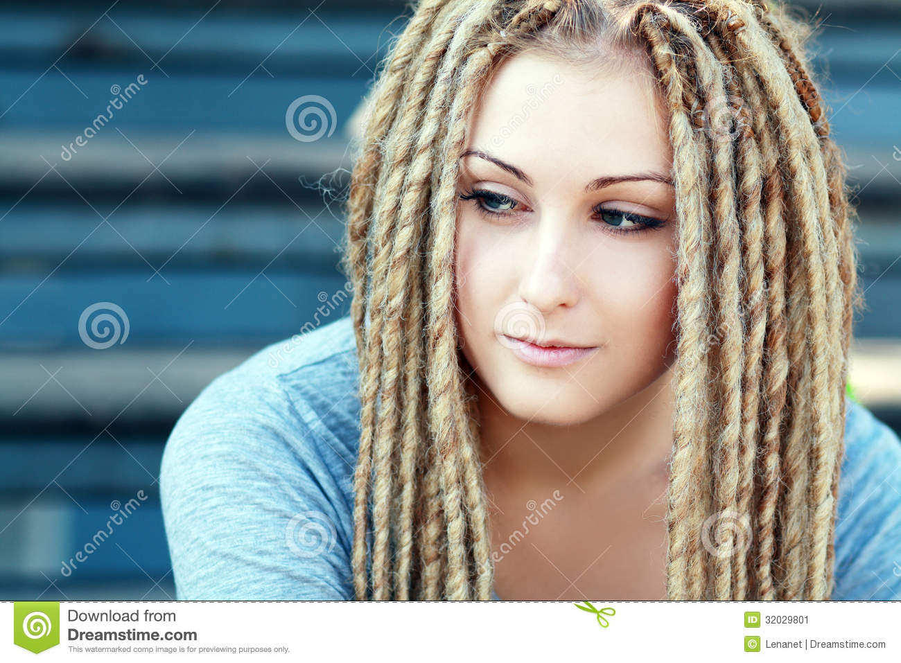 Fashion Hairstyle With Dreads Stock Image Image Of Female