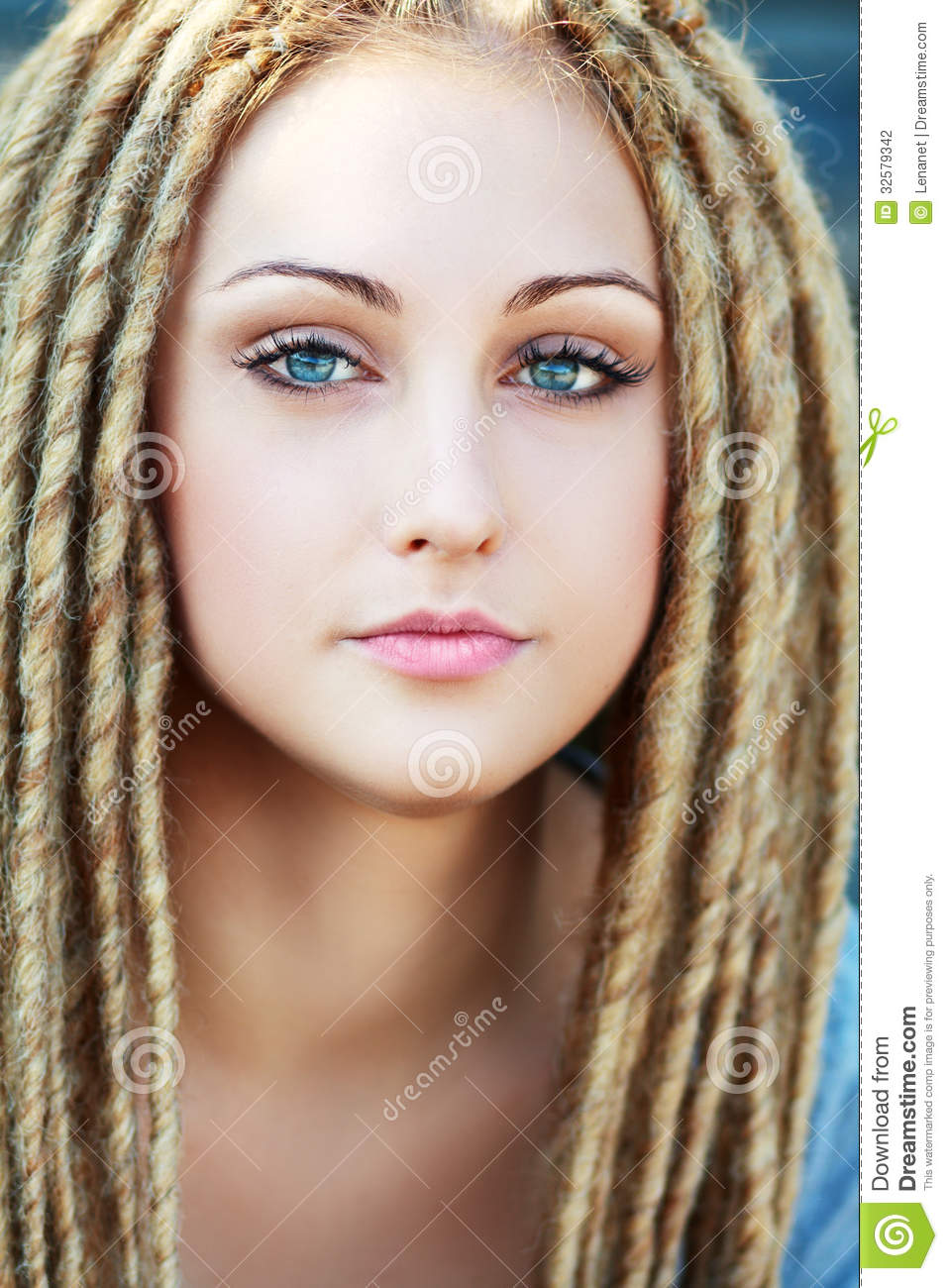 Fashion Hairstyle With Dreads Stock Photography - Image ...