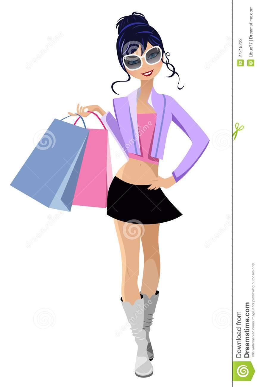 Fashion Happy Buyer Stock Photos