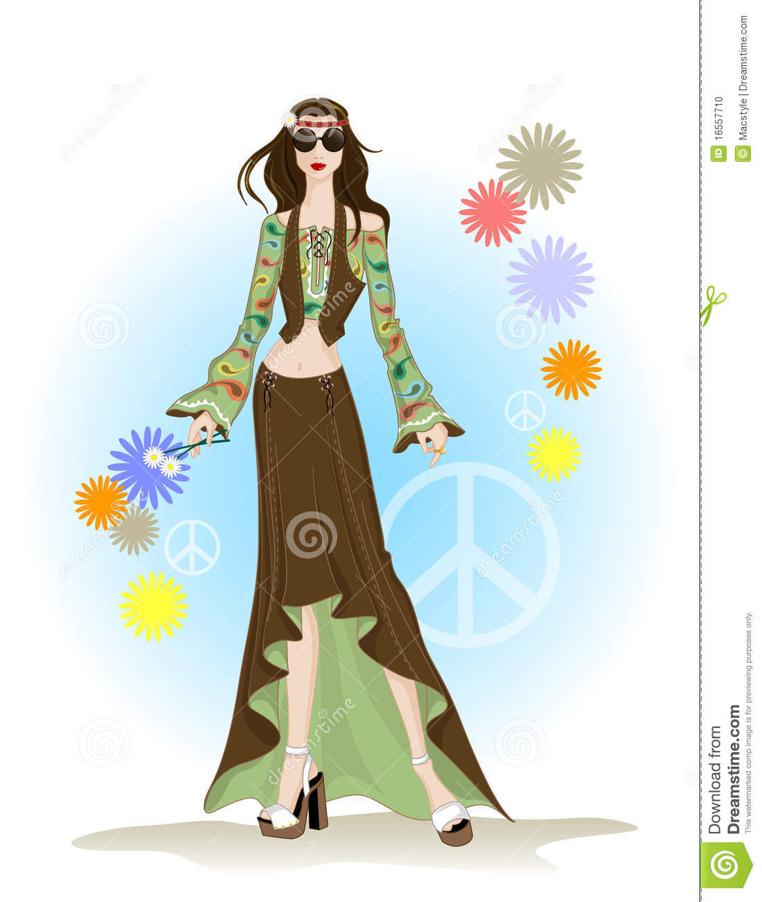 Fashion hippie style stock vector. Image of boutique ...