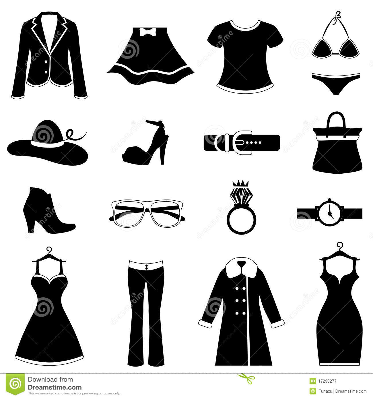 Fashion Icon Royalty Free Stock Photography Image 17238277