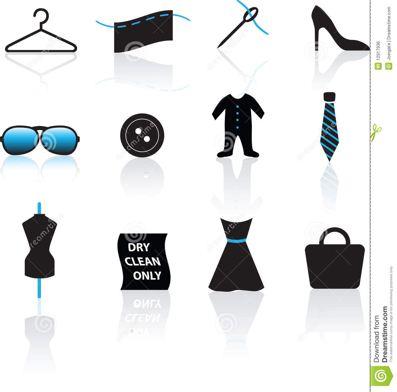 Fashion Icon Set Royalty Free Stock Image Image 12917936