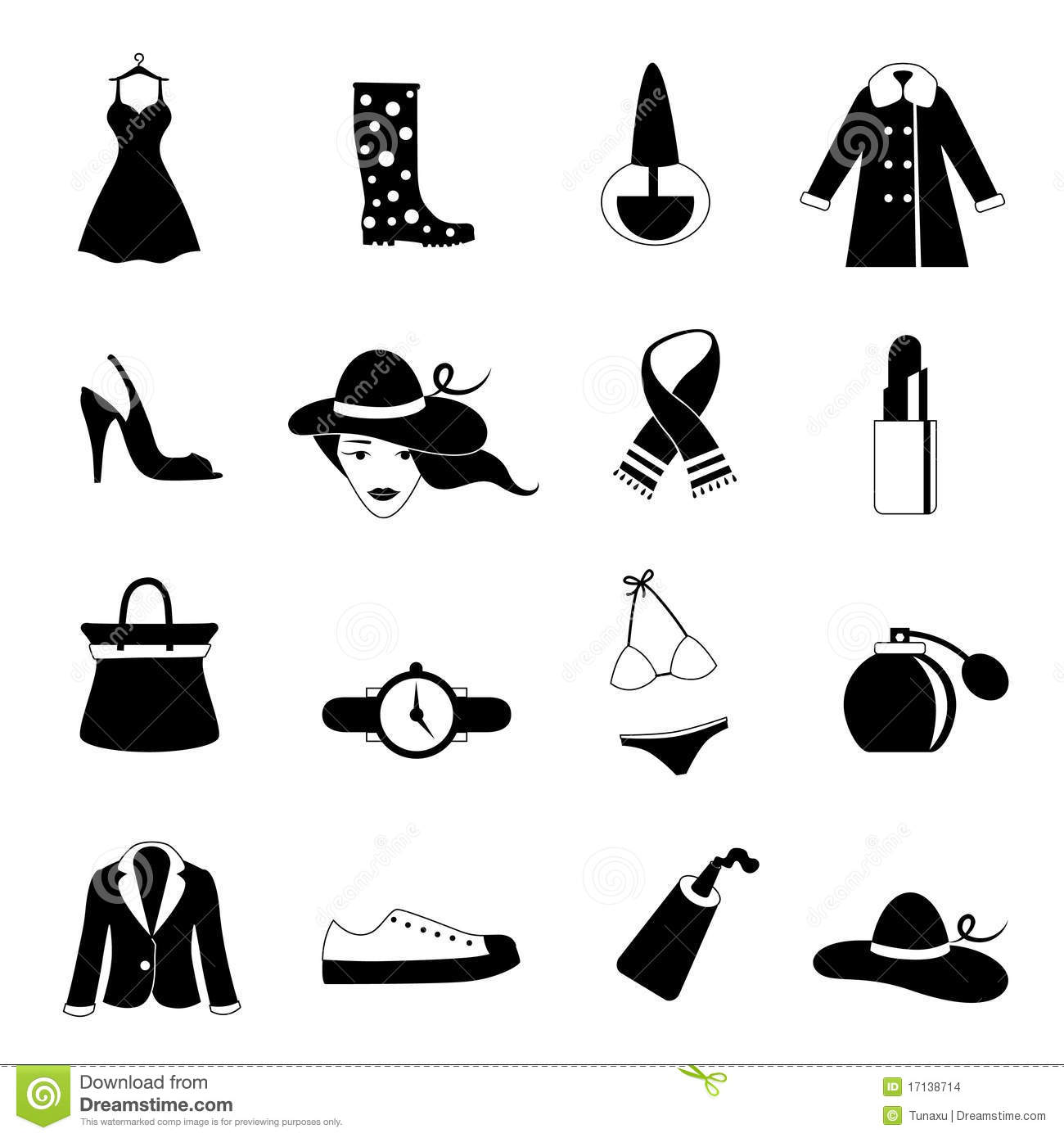 Fashion Icons Stock Images Image 17138714