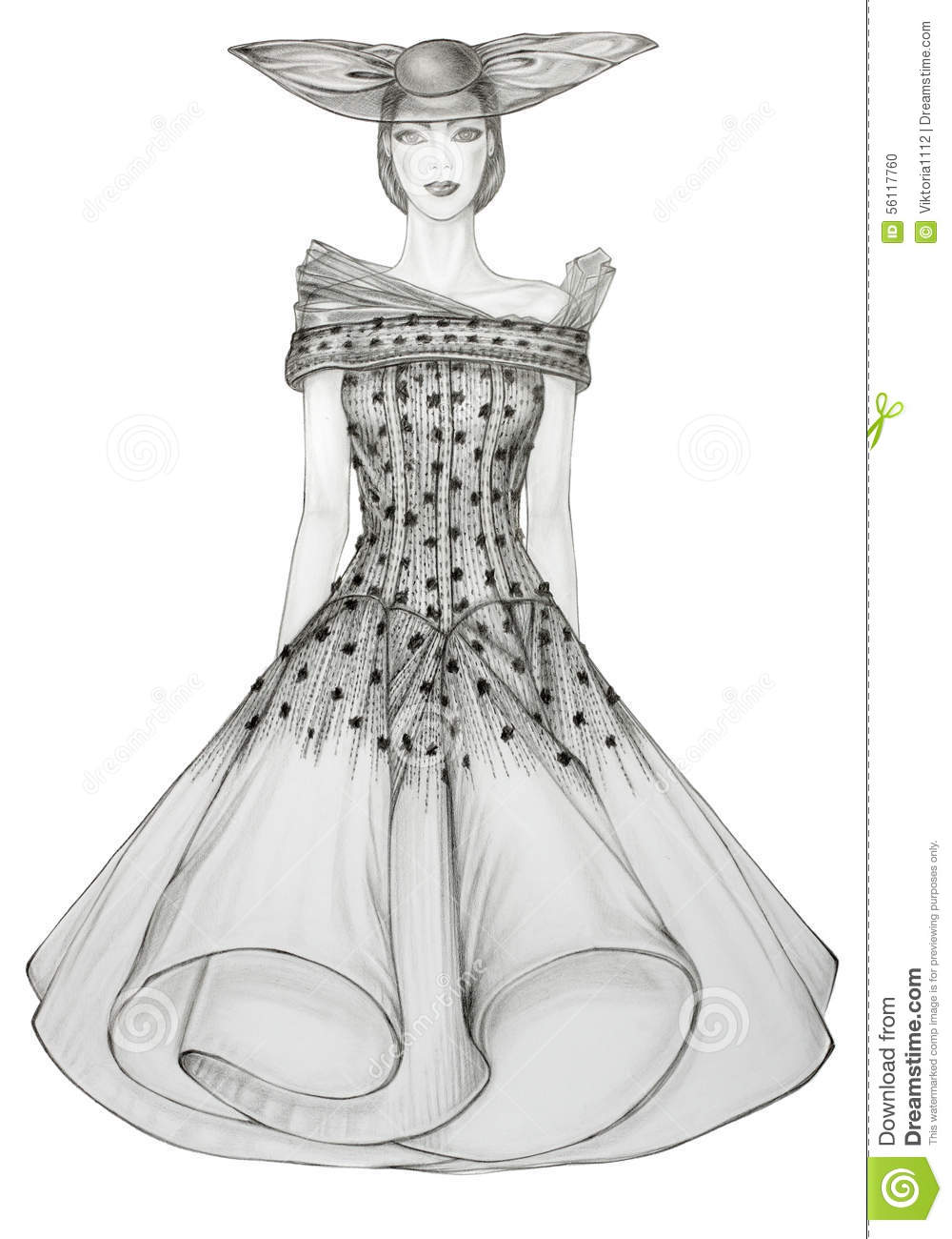 Fashion Illustration Of A Beautiful Model Stock Illustration ...