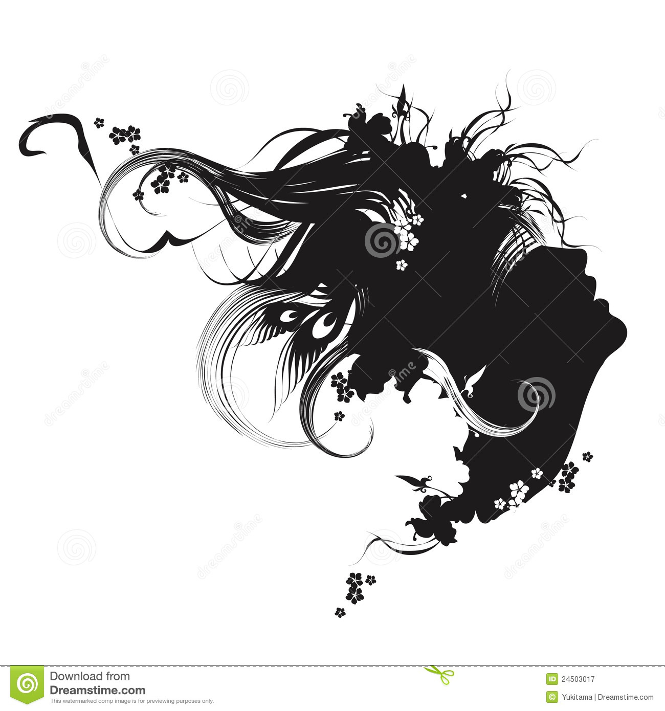 fashion illustration black and white stock vector