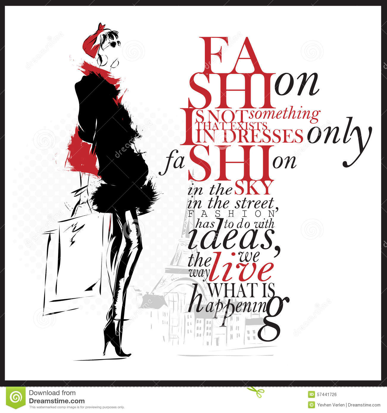 fashion illustration with quote modern and white background stock illustration fashion illustration with quote modern and white background stock illustration