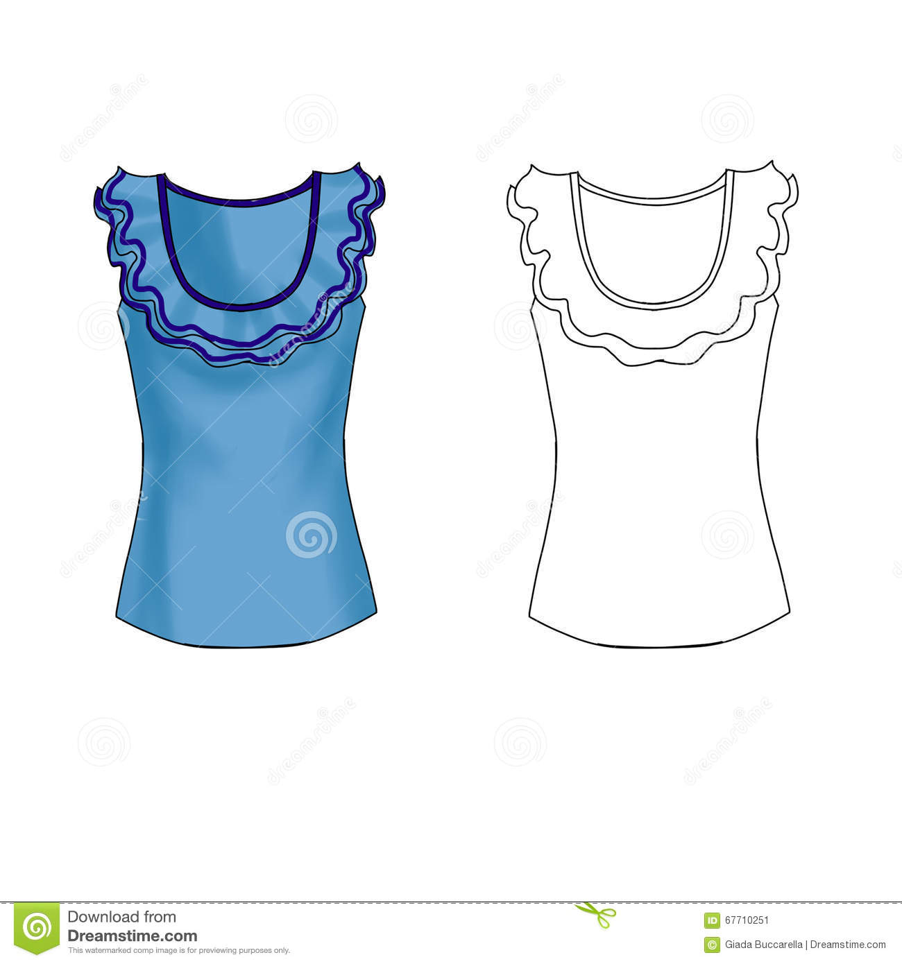 Fashion Flat Technical Sketch Template Stock Illustrations – 300 ...