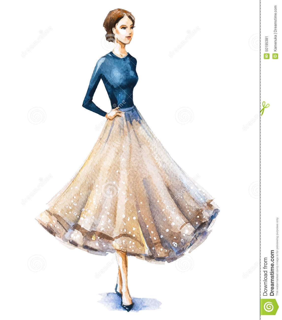 Watercolor Fashion Women