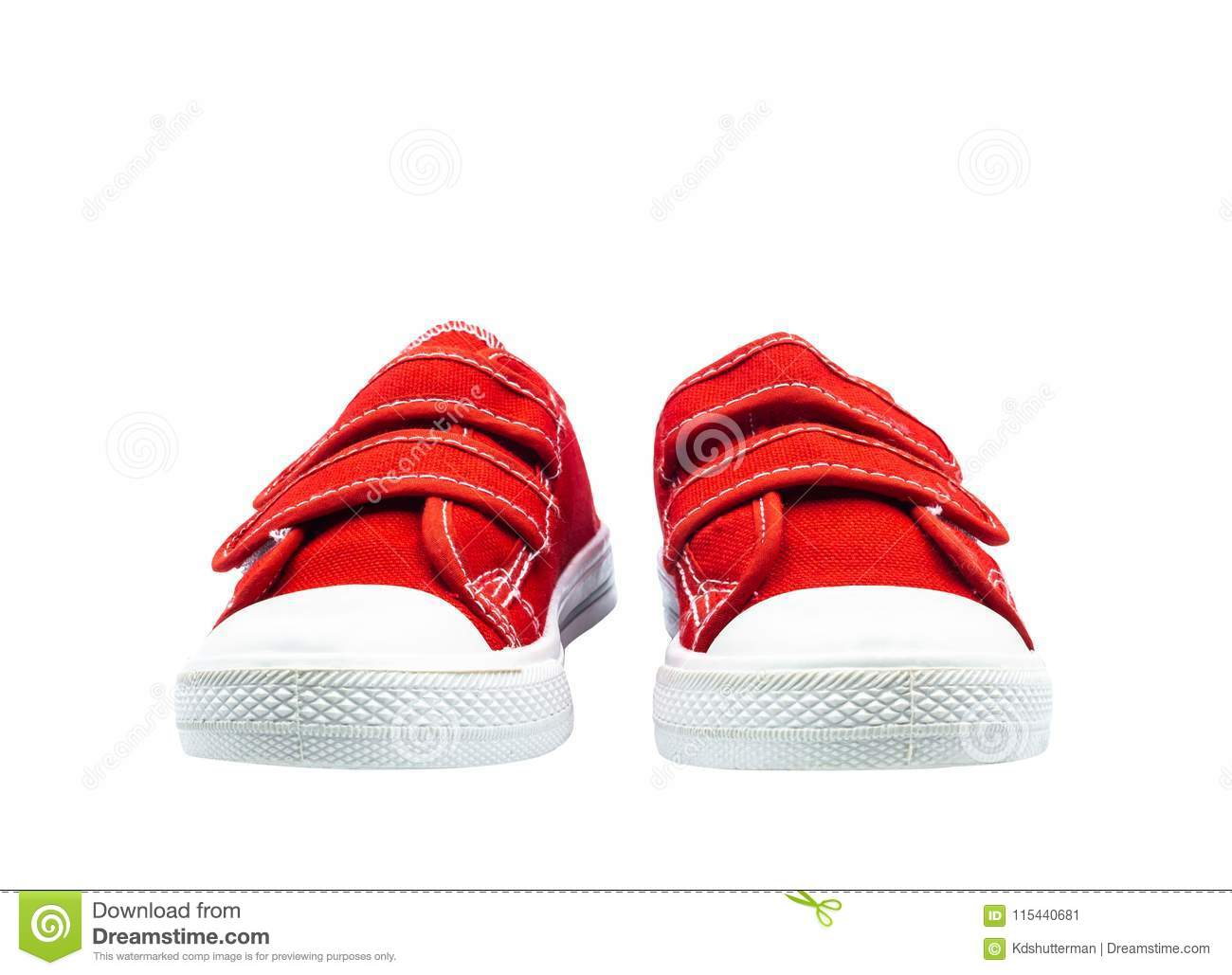 c40f249e04489 Unbranded modern sport shoes. Pair of new sneaker red thick fabric. Fashion  for kids