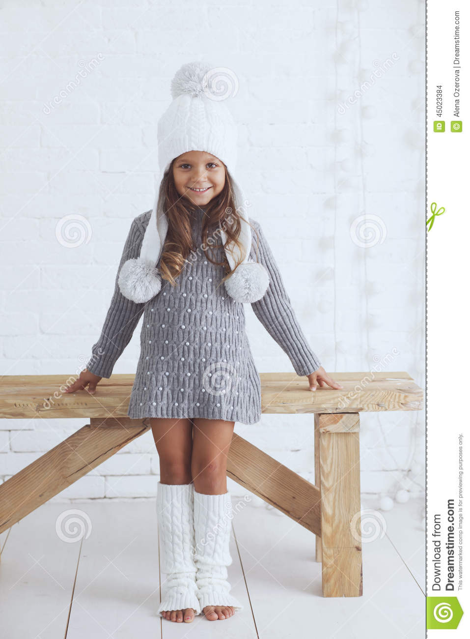 Fashion Little Girl Stock Photo Image Of Nordic Dress 45023384