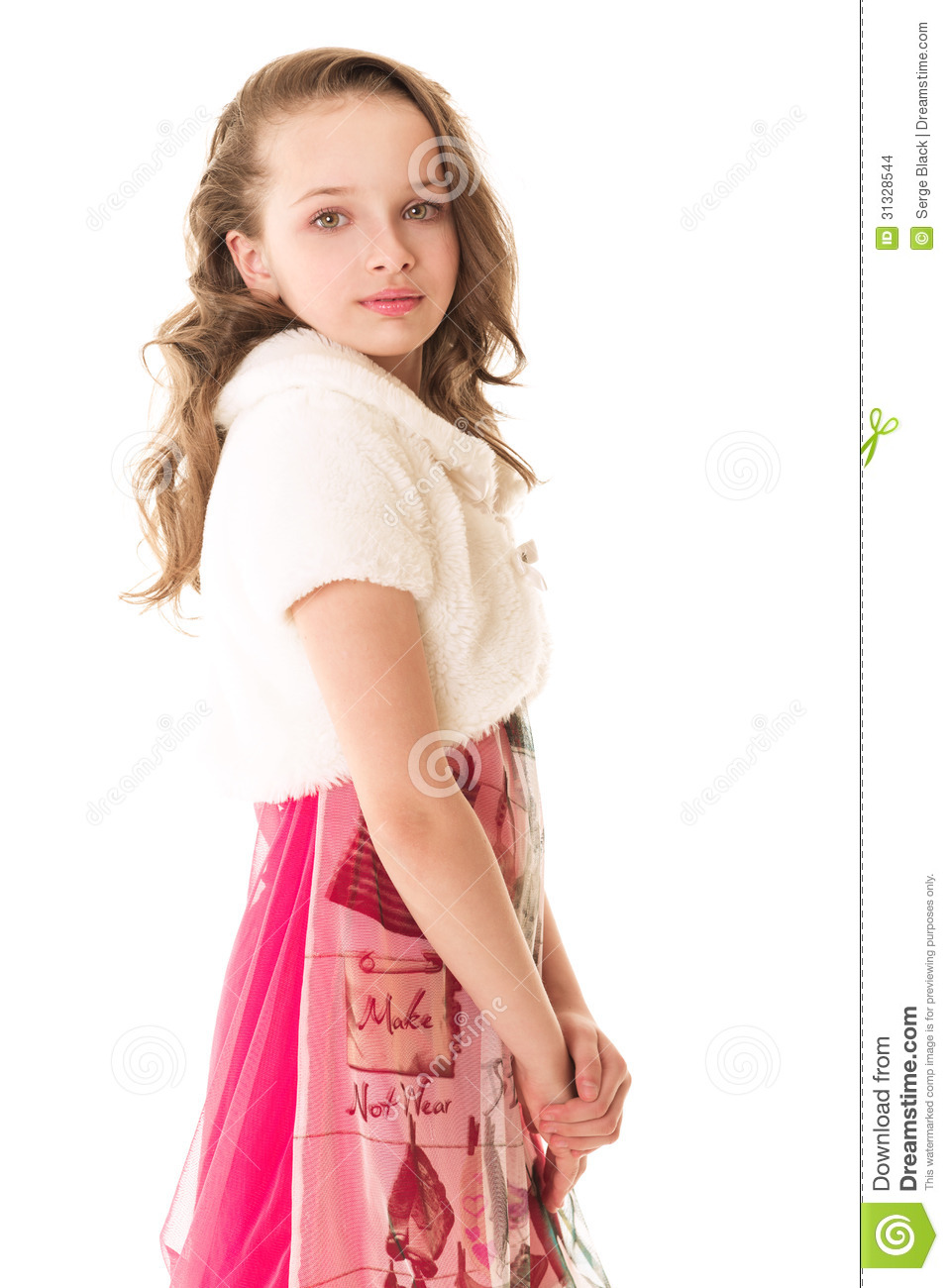 Fashion Little Girl In Studio Stock Photo Image Of Clothing Beautiful 31328544