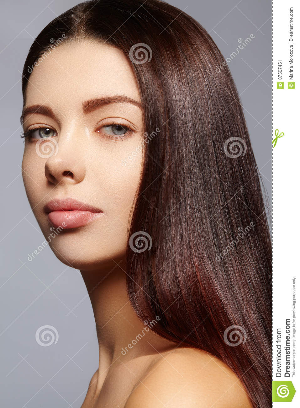 model hair style beautiful with healthy hairstyle stock image 8077