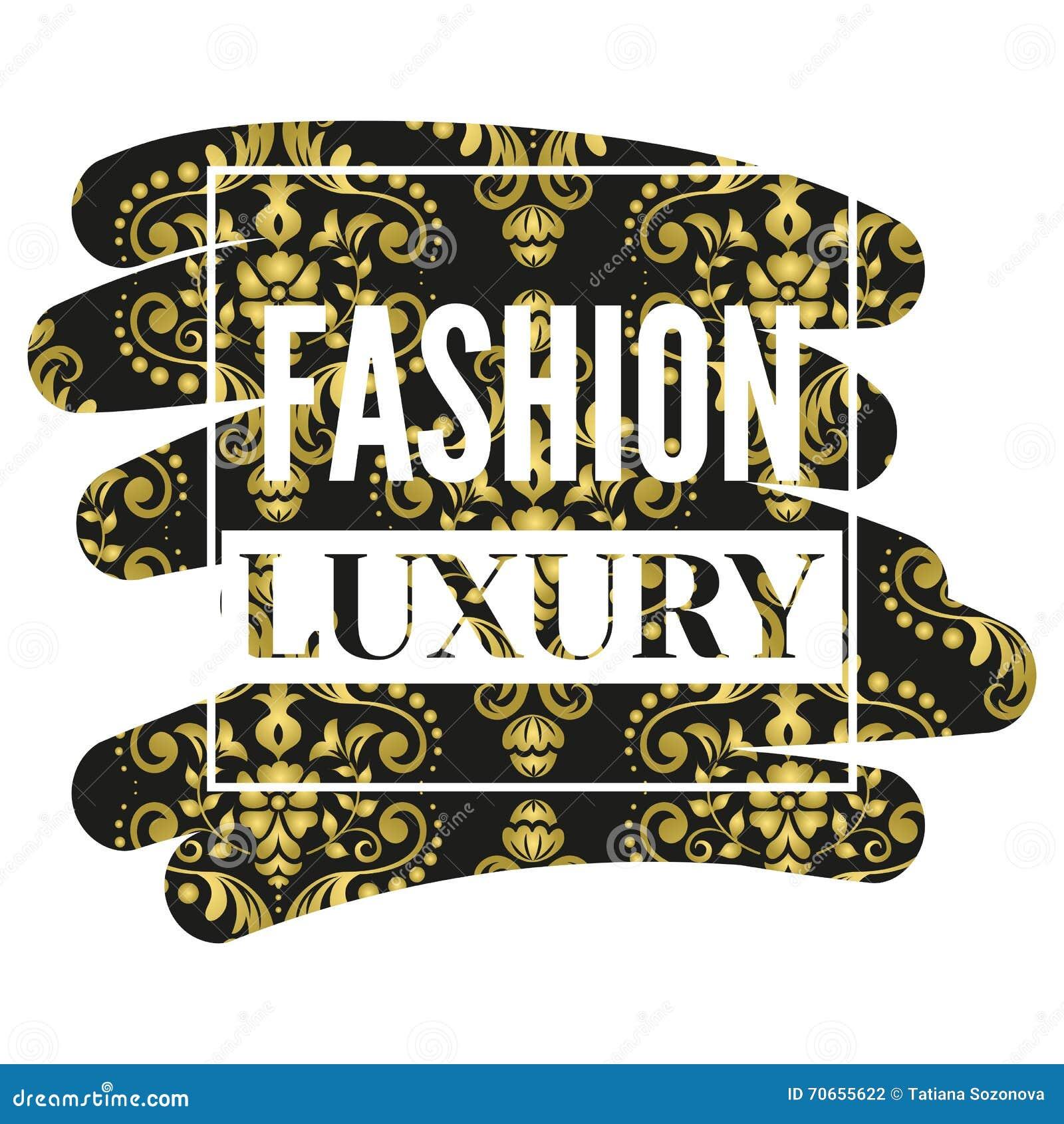 Fashion Luxury Frame Stock Vector Image 70655622