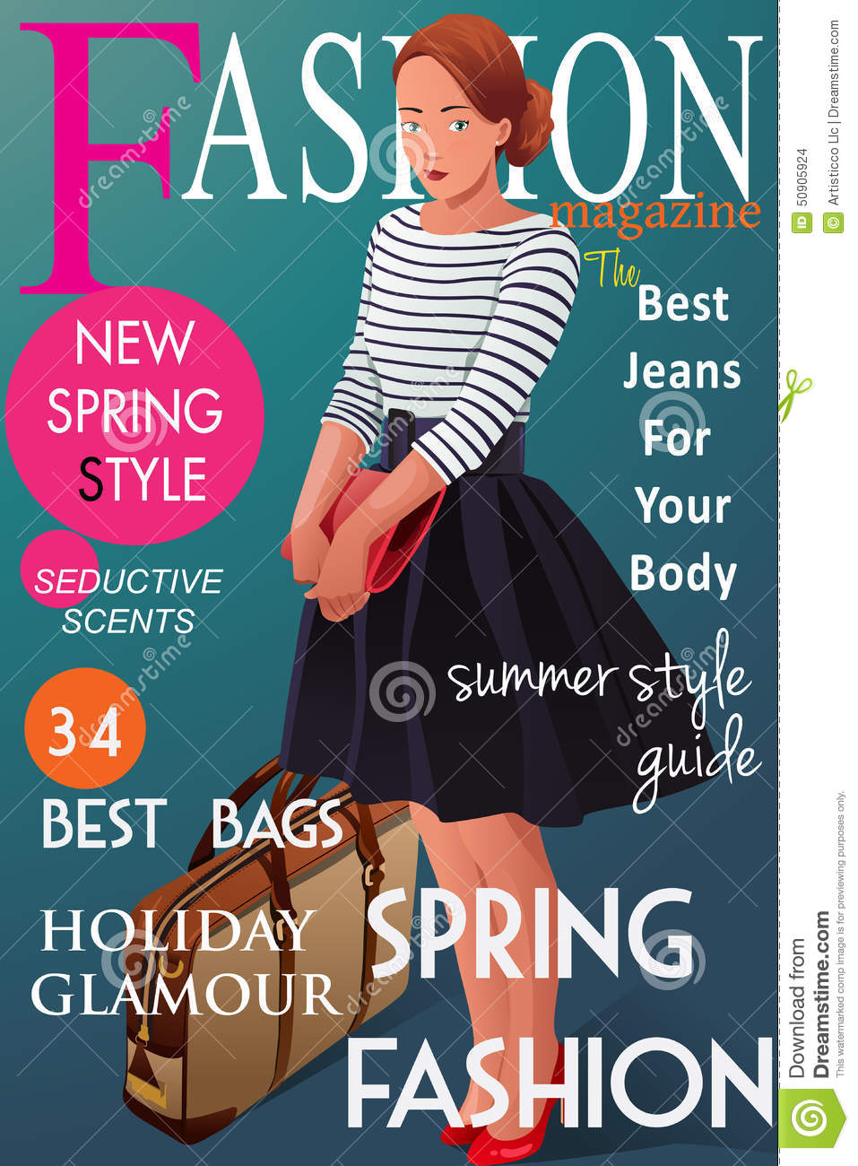 Fashion Magazine Cover Stock Illustration Illustration Of Design 50905924