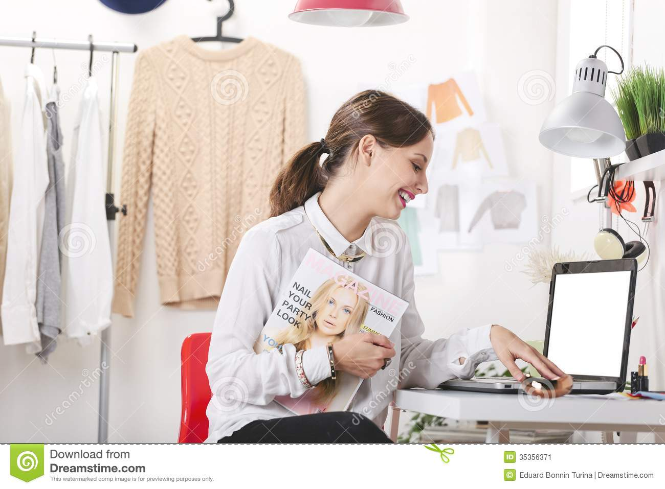 Fashion Magazine Editor In Her Office Stock Image Image 35356371