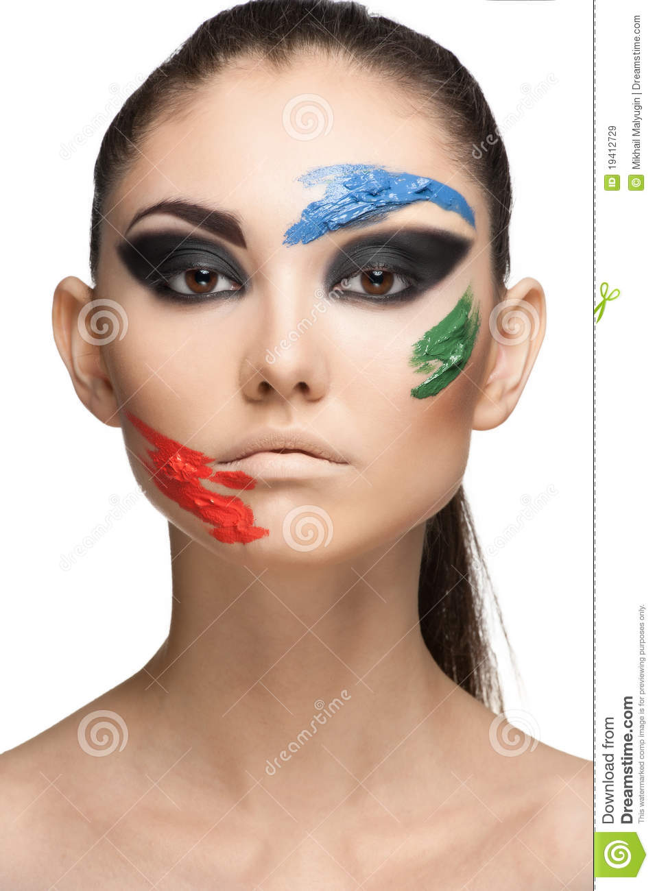 Fashion Make-up With Face Art Royalty Free Stock Images ...