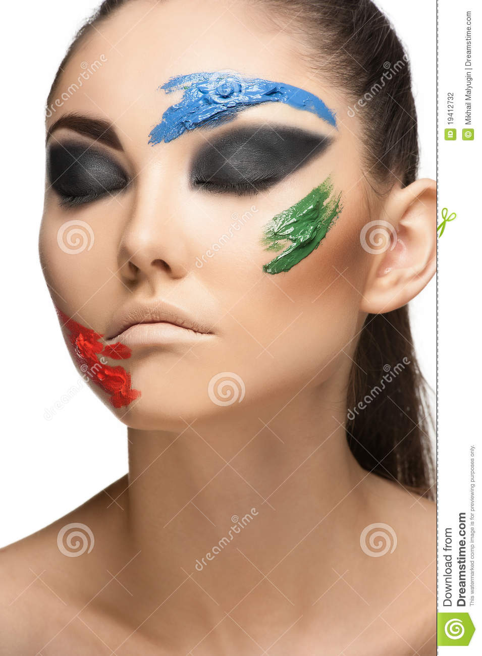 Fashion Make-up With Face Art Stock Photography - Image ...