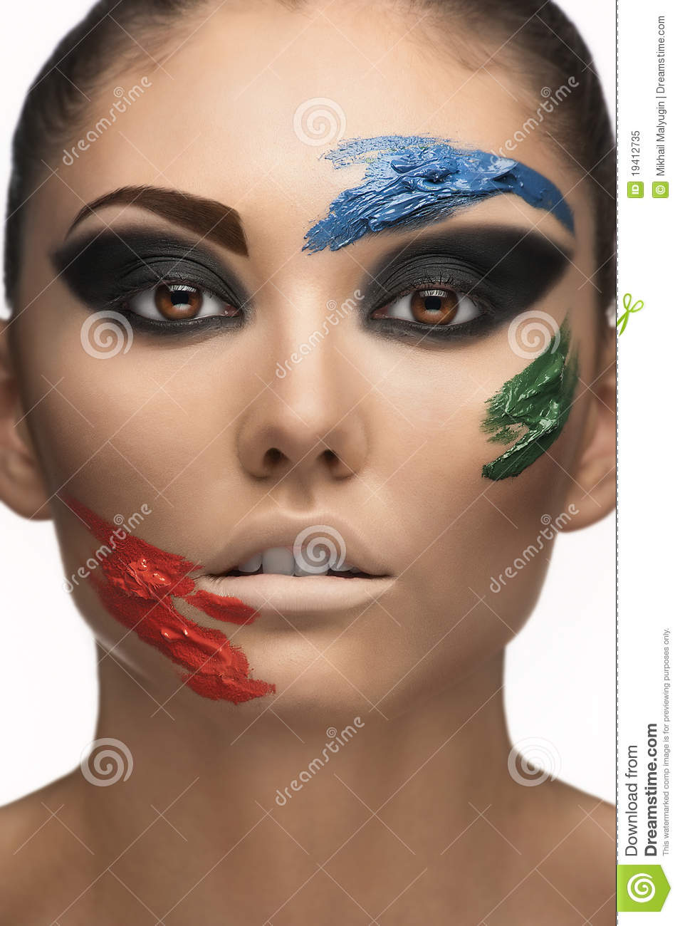 Fashion Make-up With Face Art Royalty Free Stock Photo ...