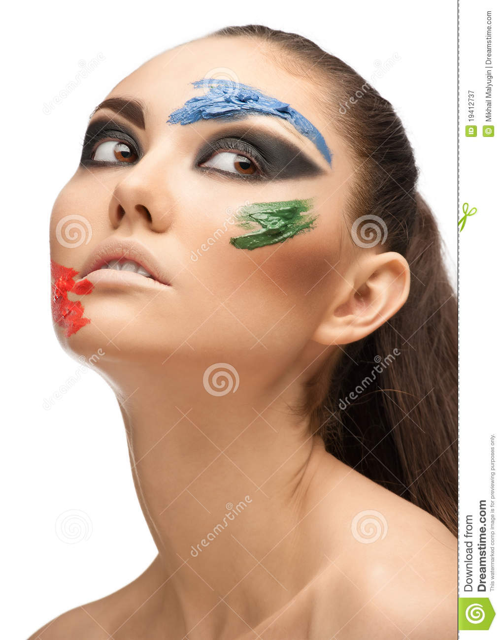 Fashion Make-up With Face Art Royalty Free Stock ...