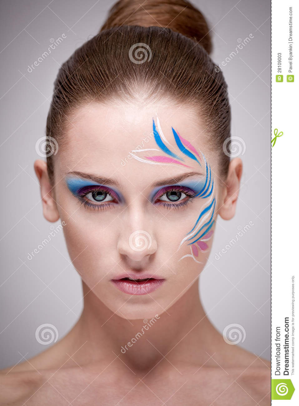 Fashion Make-up With Face Art. Stock Photos - Image: 28109003