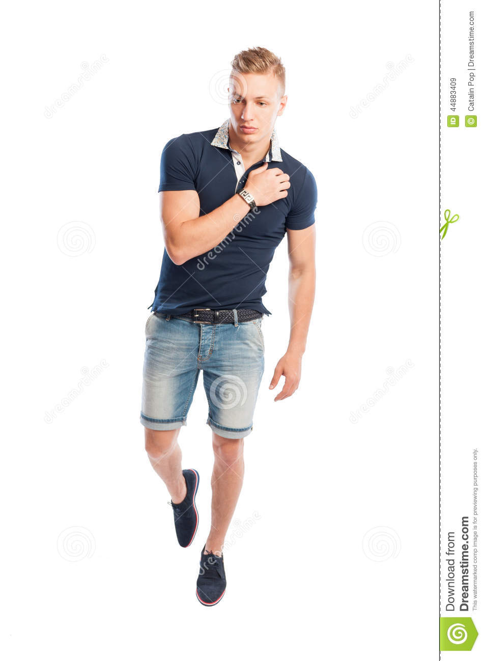 Fashion Male Model In Summer Clothes Posing Stock Image ...