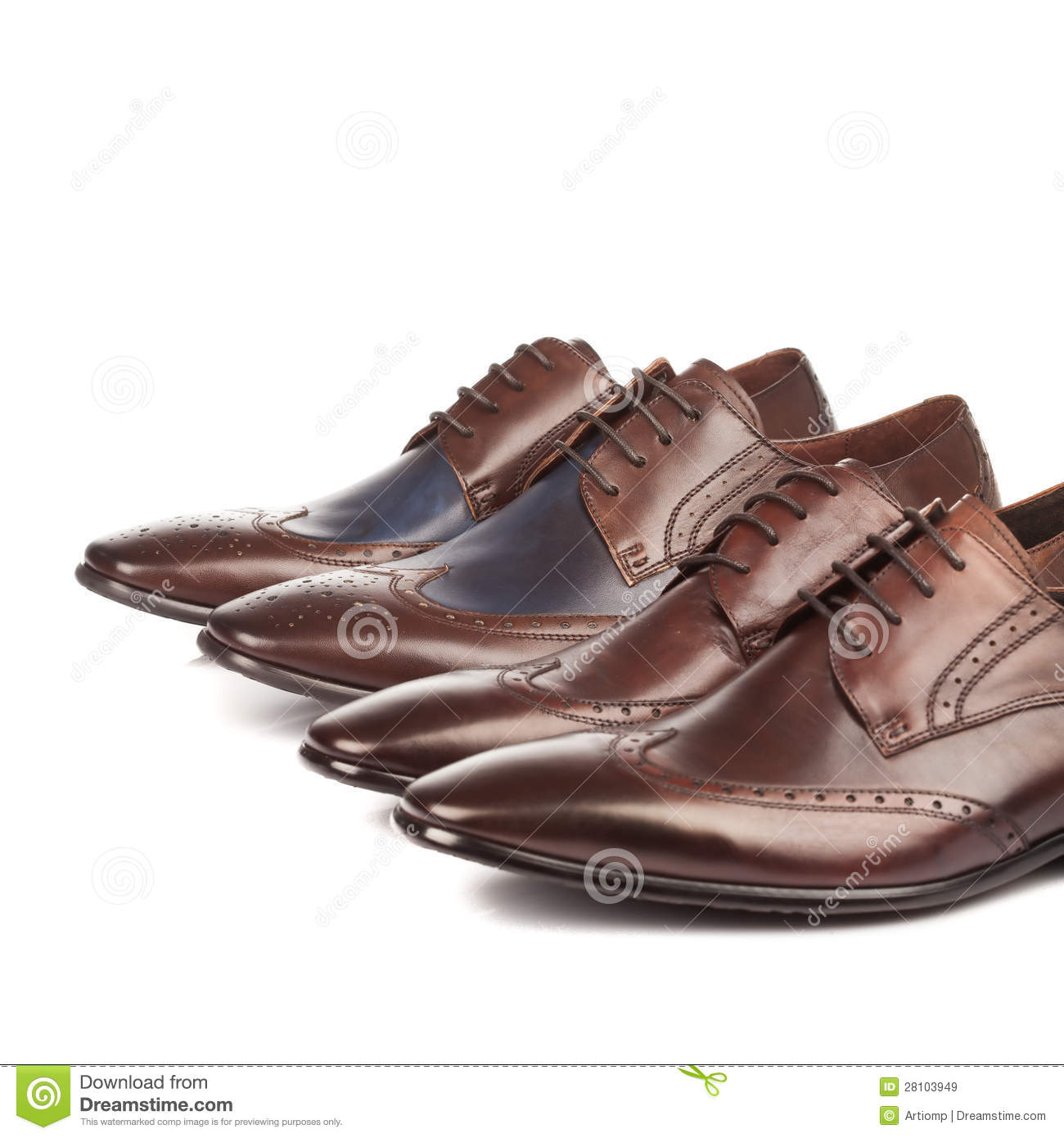 Fashion Male shoes rown brown color on white