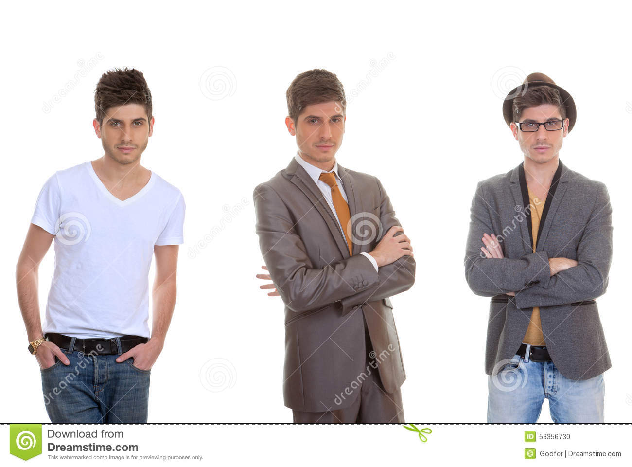 Fashion man different mens styles stock photo image 53356730 Different fashion style groups