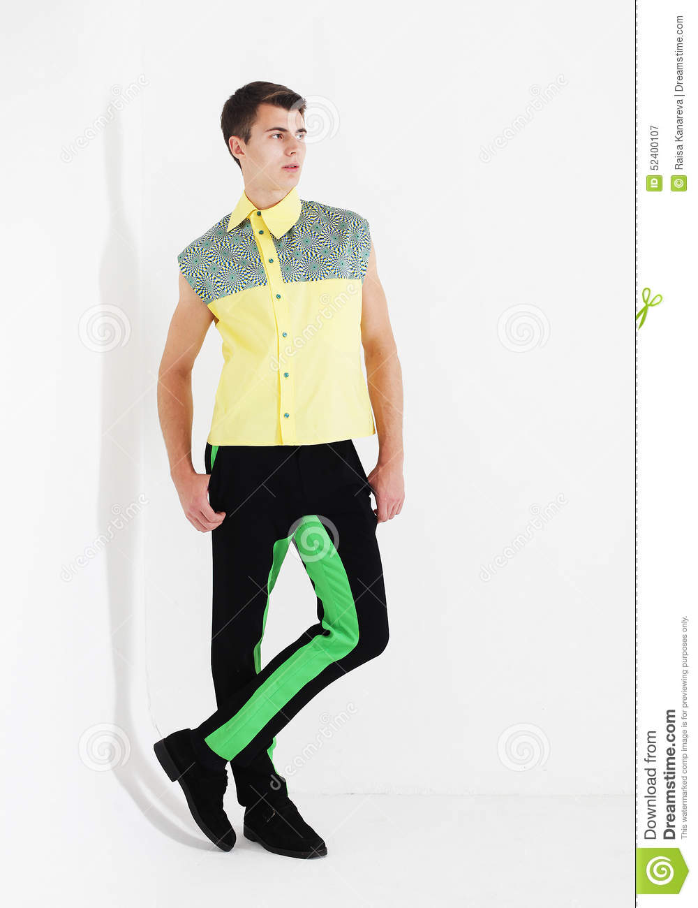 Full Body Of A Fashion Man Royalty Free Stock Image