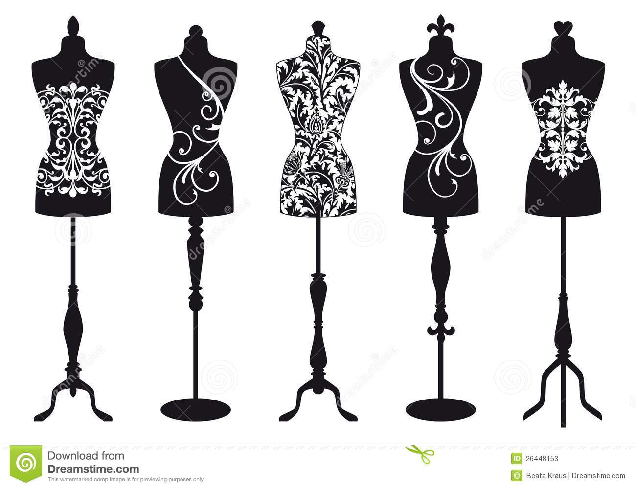 fashion mannequins vector set stock photos image 26448153. Black Bedroom Furniture Sets. Home Design Ideas