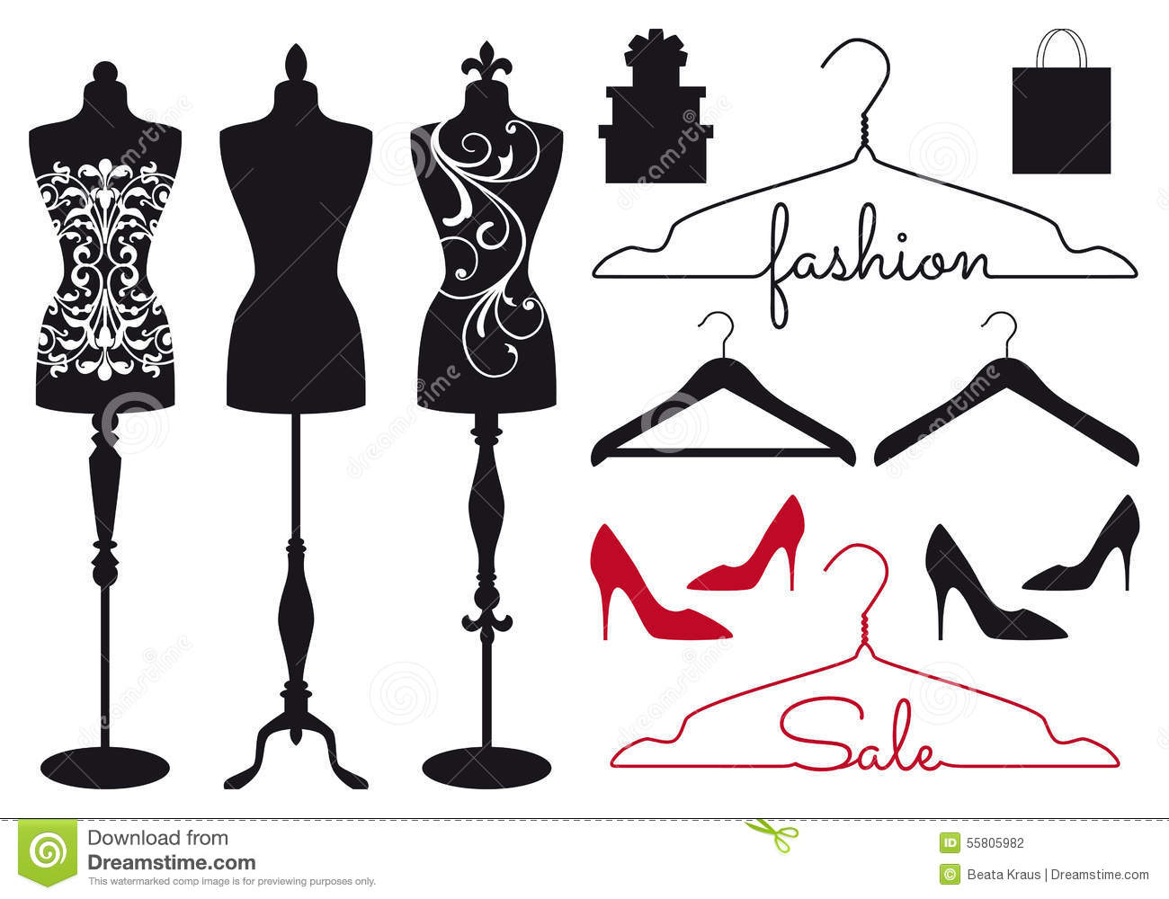 fashion mannequins  vector set stock vector