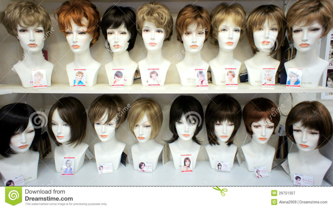 Fashion Mannequins In Wigs Editorial Photography Image