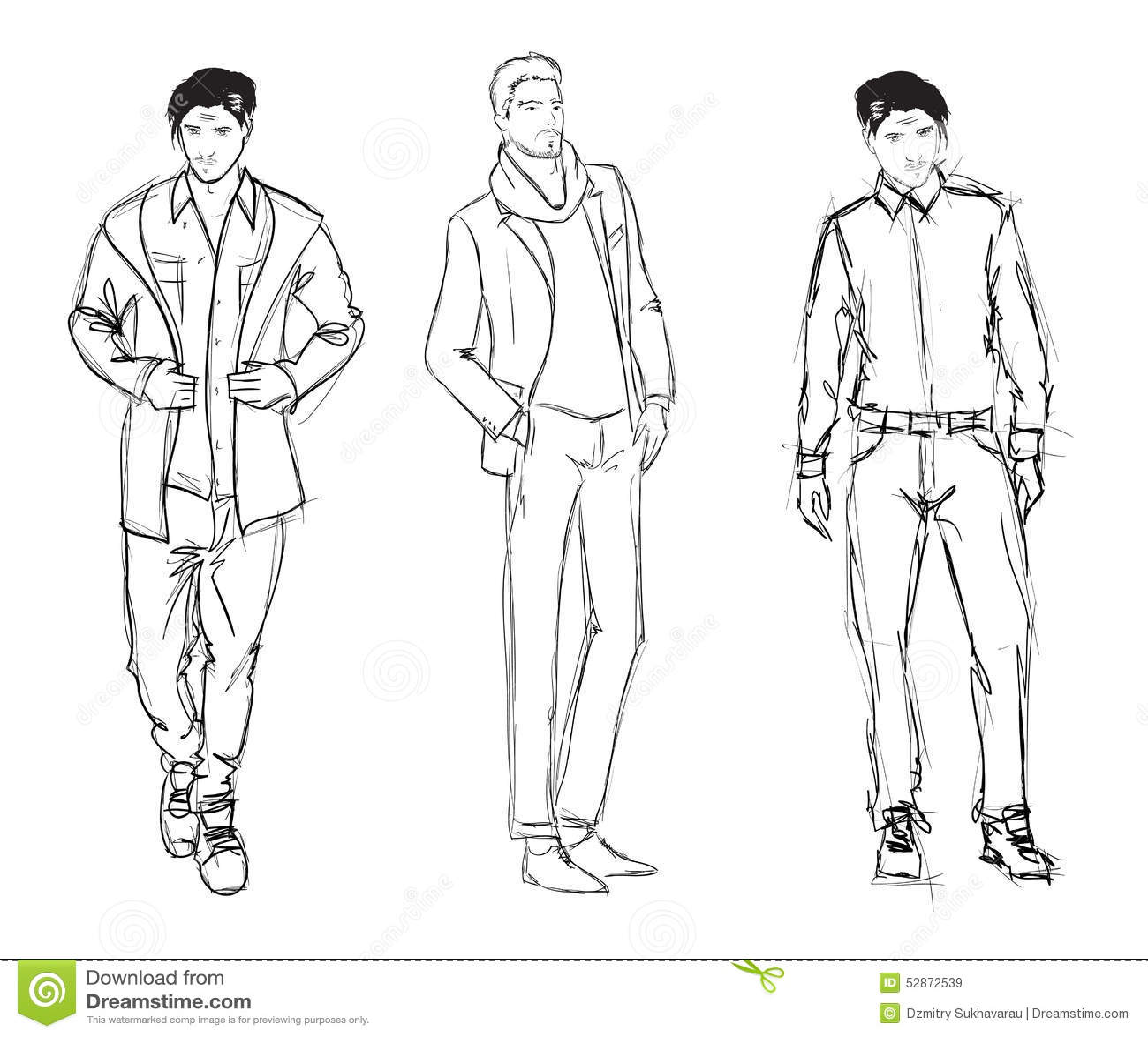 fashion men stock illustration illustration of relaxed