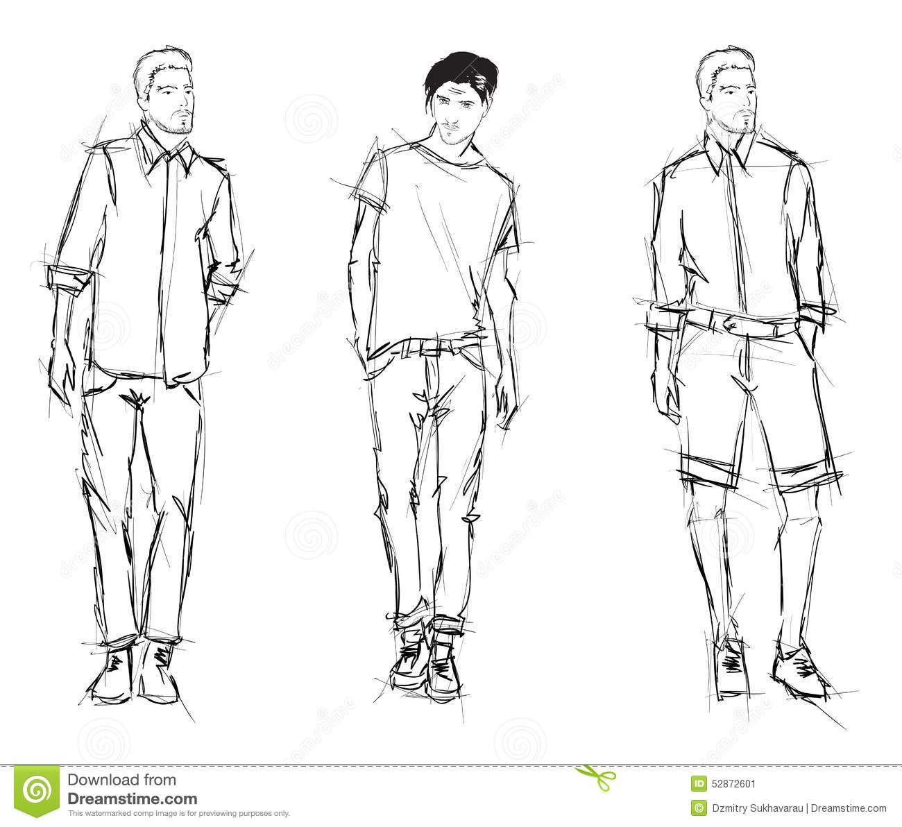 Outline Of A Person For Fashion Design