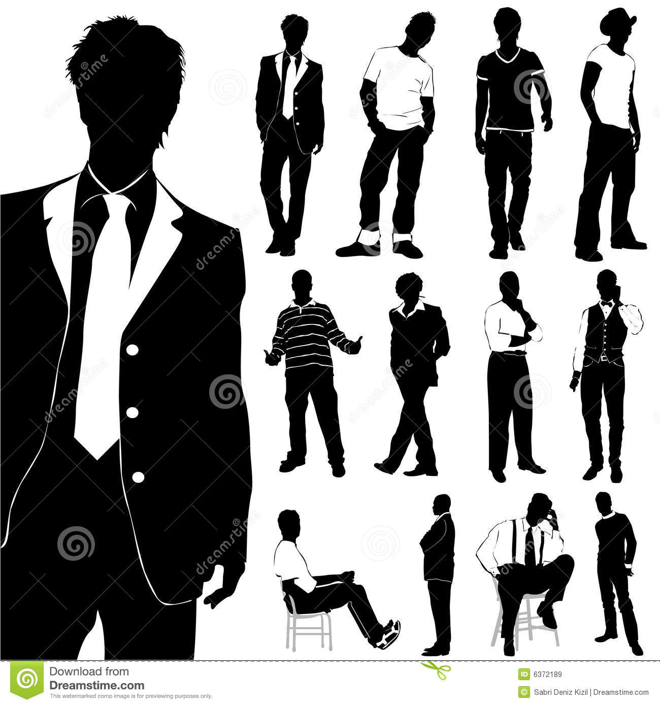 Fashion Men Vector Royalty Free Stock Images - Image: 6372189