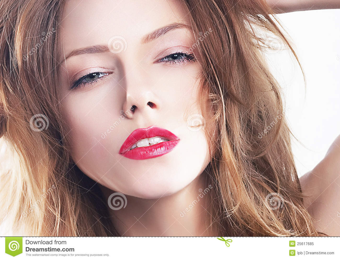 Pretty Smooth Face Stock Image