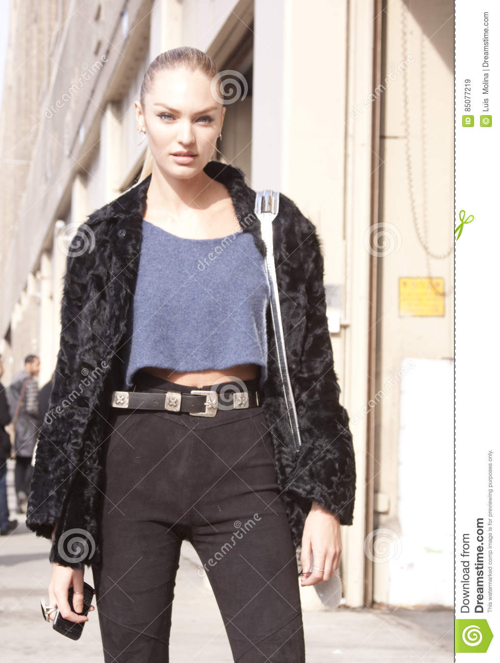 c7a3190829 Fashion Model Candice Swanepoel Street Style Editorial Stock Image ...