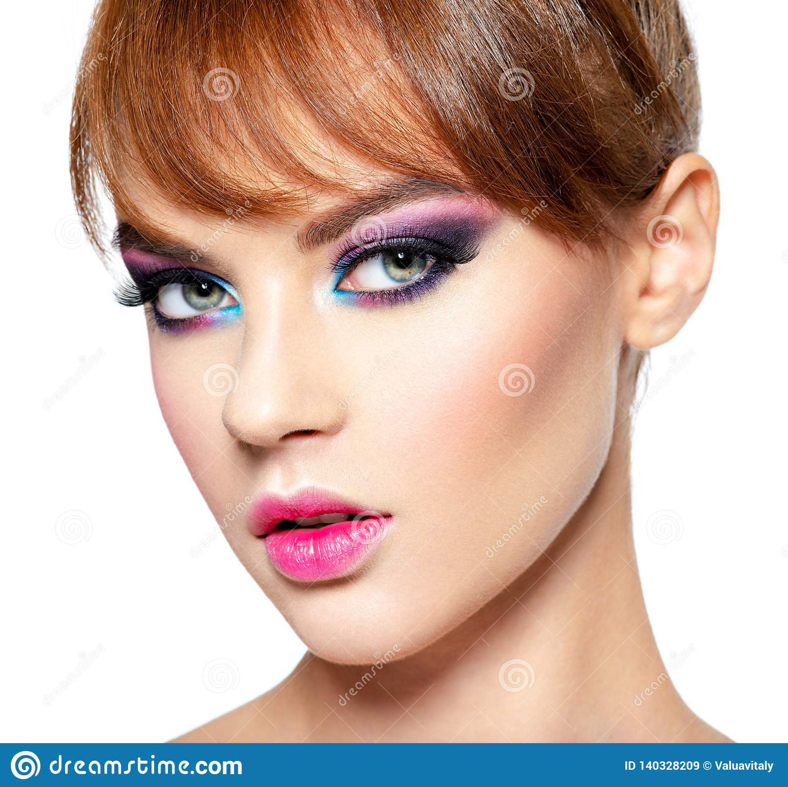 Fashion Model With Creative Eye Makeup Stock Image